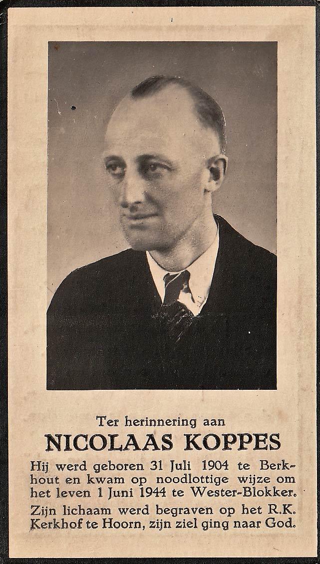 Nico Koppes uit Berkhout